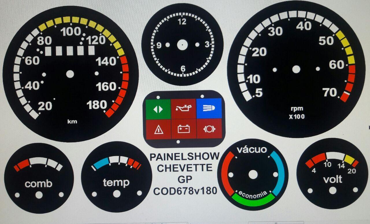 Kit Translucido p/ Painel - Cod678v180 - Chevette SR GP - Painelshow Top  - PAINEL SHOW TUNING - Personalização de Painéis de Carros e Motos