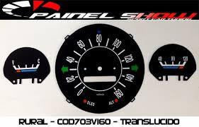 Kit Translucido P/ Painel Show + Leds - Rural Cod703v160   - PAINEL SHOW TUNING - Personalização de Painéis de Carros e Motos
