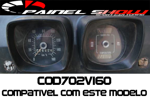 Kit Acrilico Translucido p/ Painel - Cod702v160 - Corcel 1  - PS TUNING