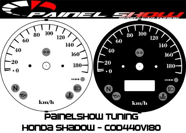 Shadow Honda Mostrador Translucido P/ Painel Cod440v180 Show  - PAINEL SHOW TUNING - Personalização de Painéis de Carros e Motos