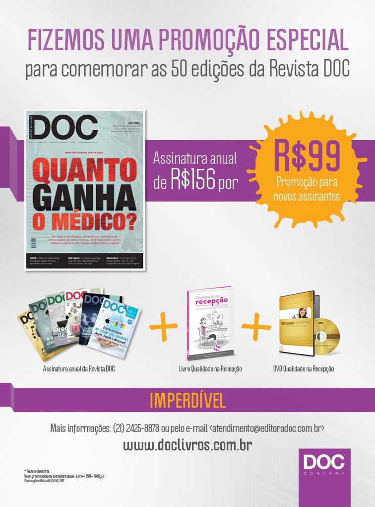 ASSINATURA ANUAL PROMOCIONAL: GRÁTIS LIVRO + DVD   - DOC Content Webstore
