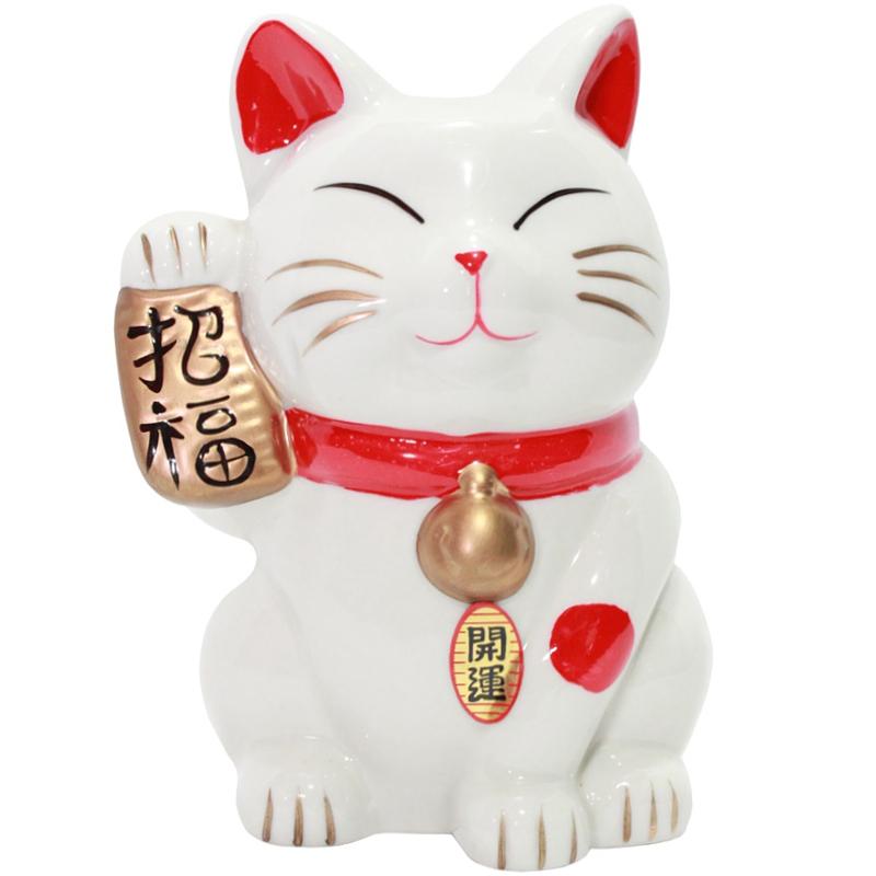 Gato Manekineko Cofre c/ Koban 15cm
