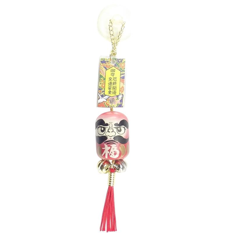 Amuleto Daruma Madeira 3 x 4,5 cm
