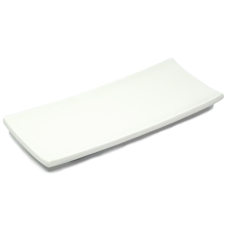 Prato Retangular Branco 10,5 x 23,5 cm