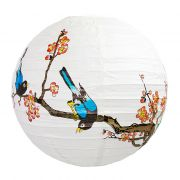 Luminária Cerejeira Laranja Pássaro 40 cm