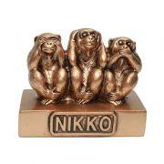 Macacos de Nikko Dourado 9,5 x 8 cm