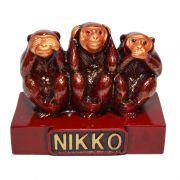 Macacos de Nikko Vinho 9,5 x 8 cm