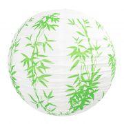 Luminária Bambu Verde 40 cm
