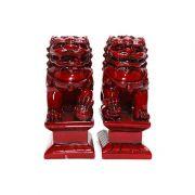Leão Guardião Shisa Vermelho 9 x 11cm