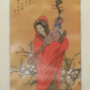 Painel Chinesa Vestido Vermelho 32 x 120cm