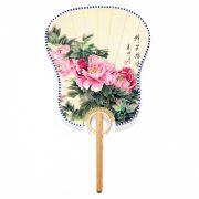 Ventarola Floral Rosa 33 cm