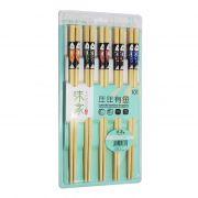 Palitos Hashi Bambu 10 pares Peixe Cartela