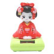 Gueixa Solar Kimono Vermelho 9 x 8 cm