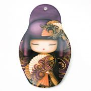 Descanso p/ Panela Kokeshi 13 x 22 cm - Roxo