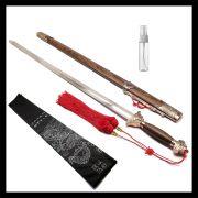 Espada Tai Chi Jian San Feng - Lâmina Semi-flexível + Suporte + Lubrificante + Capa