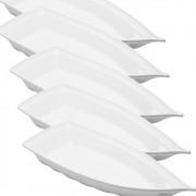Barco Acrílico Branco 32 x 14 cm 800 ml Kit c/ 6 pcs