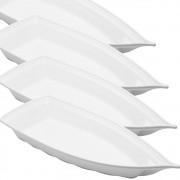 Barco Acrílico Branco 42 x 18 cm 1900 ml Kit c/ 24 pcs