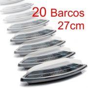 Barco Descartável c/tampa 27x15 cm 600 ml Kit c/ 20pc