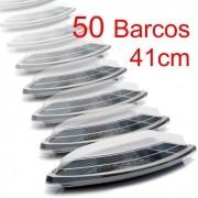 Barco Descartável c/tampa 41 x 21 cm 1,5 l Kit c/ 50 pcs