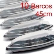 Barco Descartável c/ tampa 45cm x 22,5 cm (2 l) Kit c/ 10 pcs