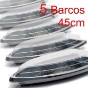 Barco Descartável c/ tampa 45cm x 22,5 cm (2 l) Kit c/ 5 pcs