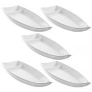 Barco Melamina Branco Kit com 5 pcs 26 x 11 cm