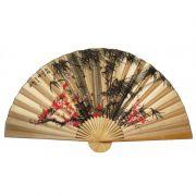 Leque de Parede 160 cm Bege / Bambu com Sakura