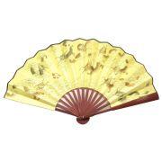 Leque Dourado Ryuu Dragão 60 x 33 cm