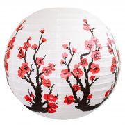 Luminária Oriental Cerejeira Vermelha 40 cm