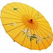 Sombrinha Oriental Decorativa Amarela 85 cm