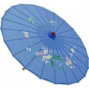 Sombrinha Oriental Decorativa Azul 85 cm