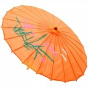 Sombrinha Oriental Decorativa Laranja 85 cm