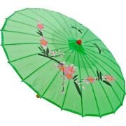 Sombrinha Oriental Decorativa Verde 85 cm