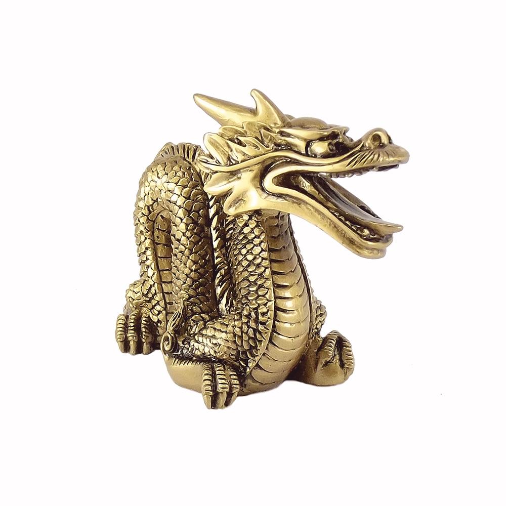 Dragão Dourado 11 x 9 cm