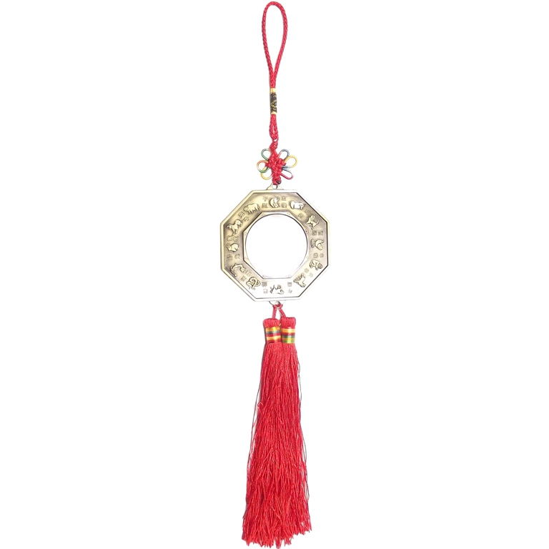 Amuleto Baguá Ying Yang c/ espelho 7 x 32 cm