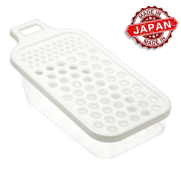 Ralador Plástico c/ Suporte Branco 19,7 x 9,7 cm