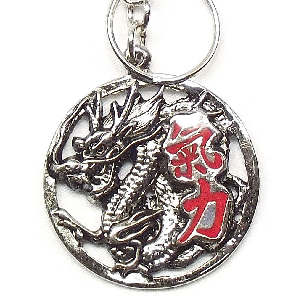 Chaveiro Dragão Ryuu Kiryouku 4,5 x 11 cm