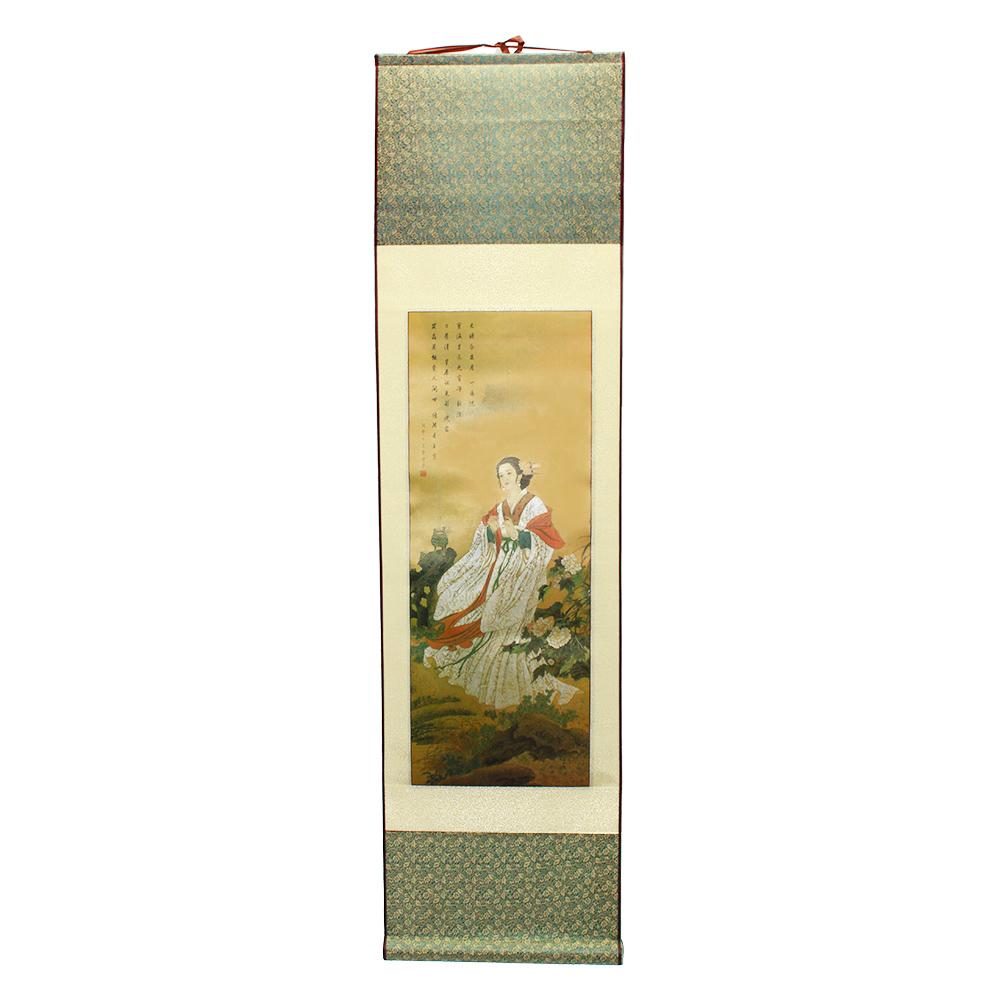 Painel Chinesa Vestido Branco 32 x 120 cm
