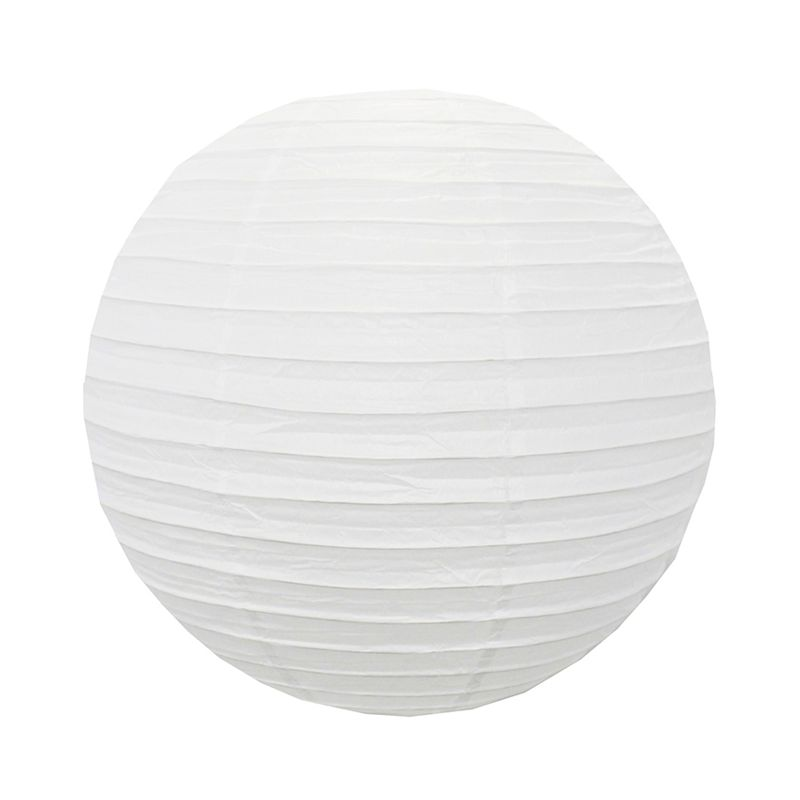 Luminária Oriental Branca Lisa 30 cm