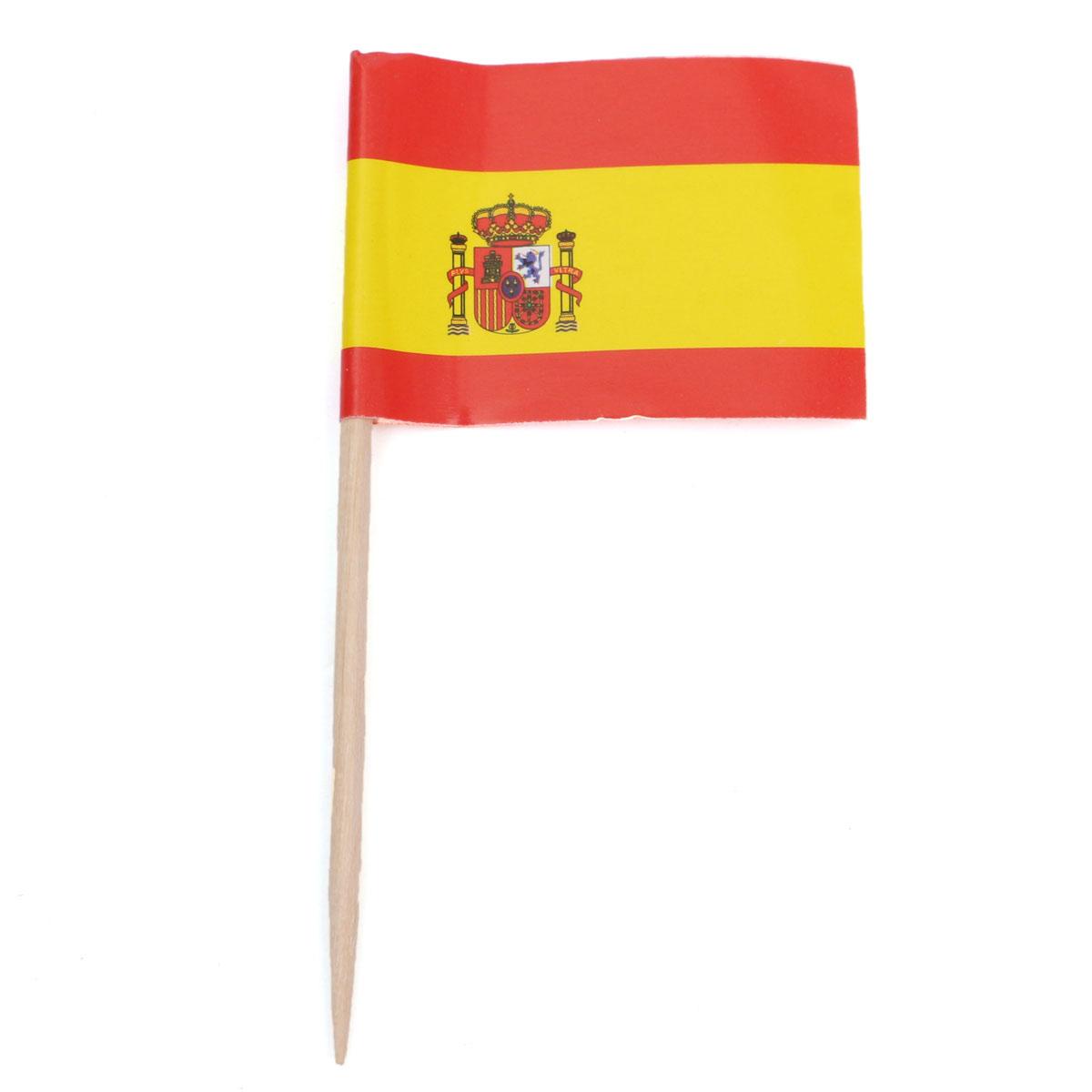 Espeto Bandeira da Espanha c/ 50 unid.