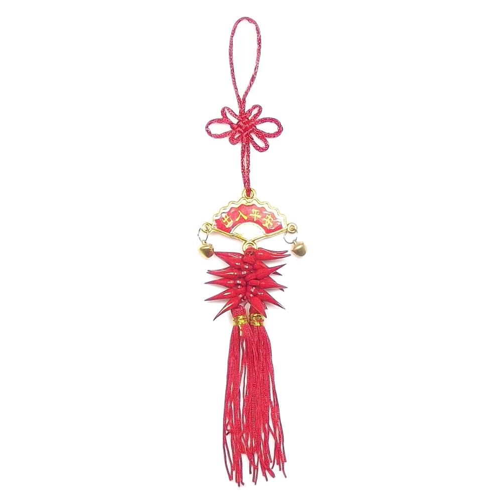 Amuleto Leque c/ Pimentas Paz e Proteção  4,5 x 22 cm