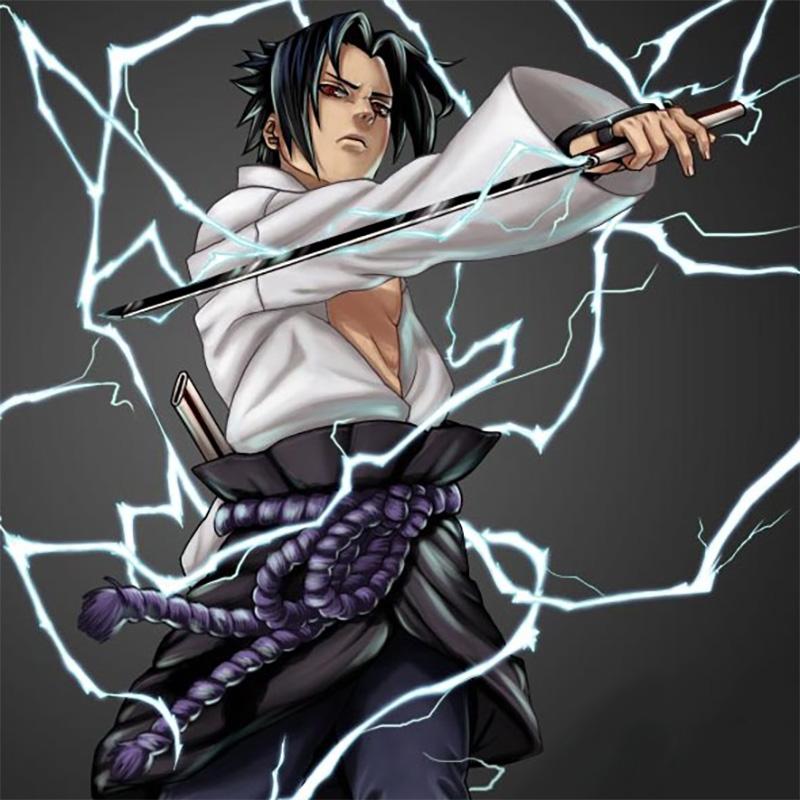 Espada Naruto / Sasuke - Kusanagi no Ken em Aço + Lubrificante + Capa