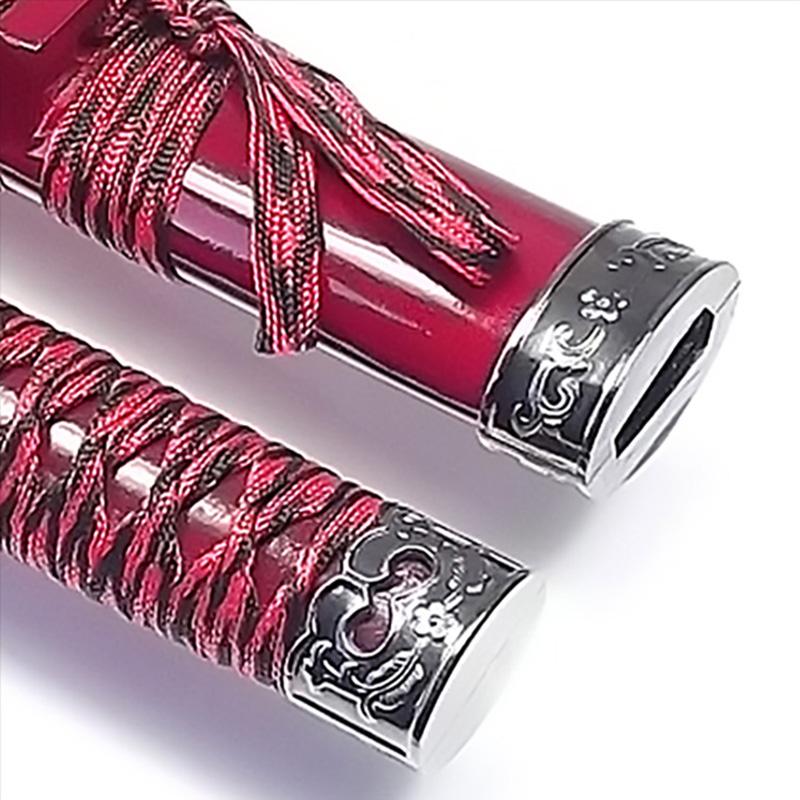 Espada Wakizashi Ryuto Vermelha + Lubrificante + Capa