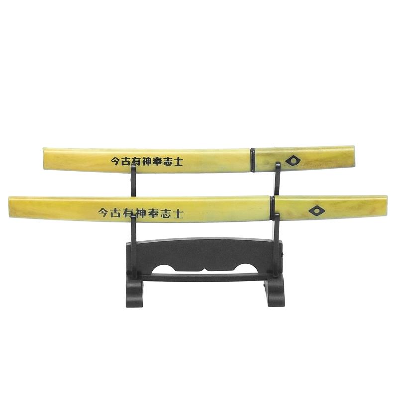 Abridor de Carta Espada Shirasaya Conj 2 c/ suporte 21cm