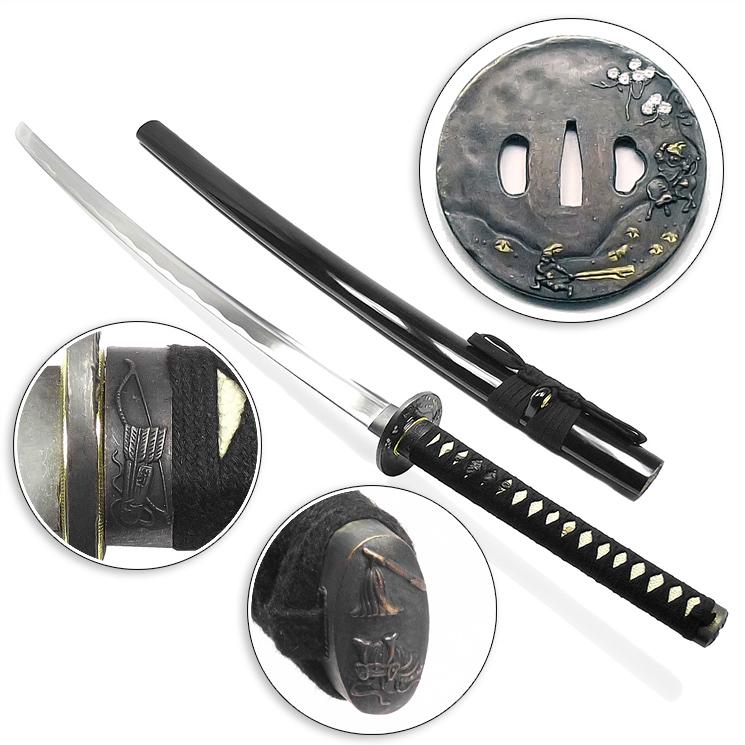Espada Iaito Saikoukyuu Aço 1060 Funcional + Suporte + Lubrificante