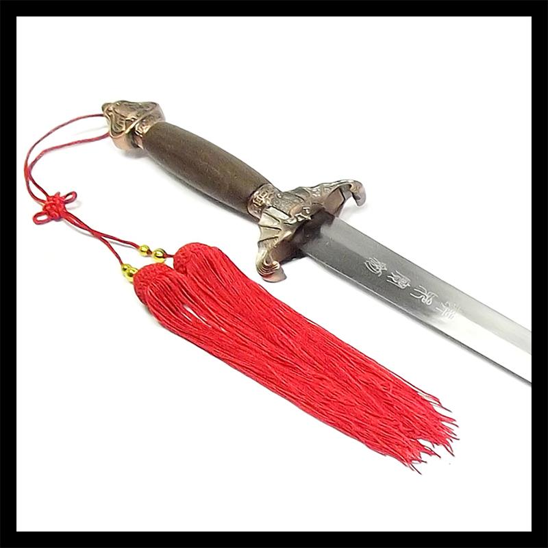 Espada Tai Chi Jian Morcego Lâmina Semi-flexível + Lubrificante