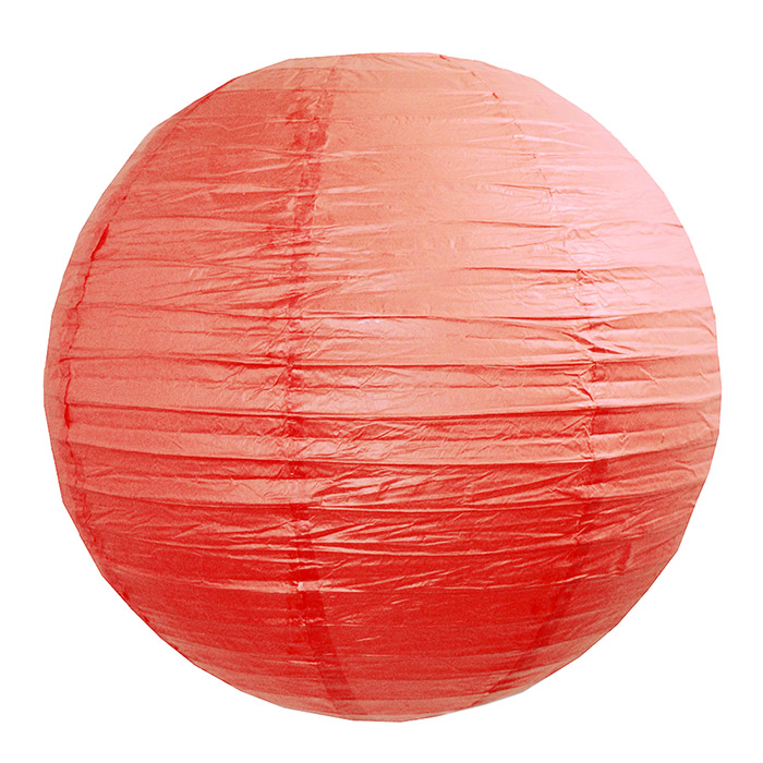 Luminária Vermelha Lisa 40 cm