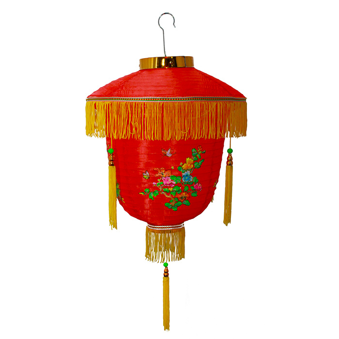 Luminária Chinesa Floral Pássaro 30 cm