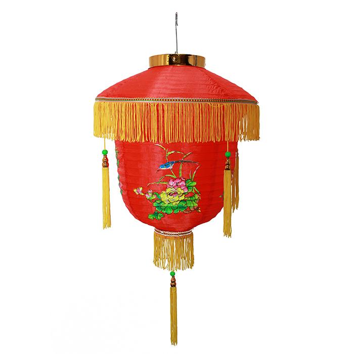 Luminária Chinesa Floral Pássaro 35 cm