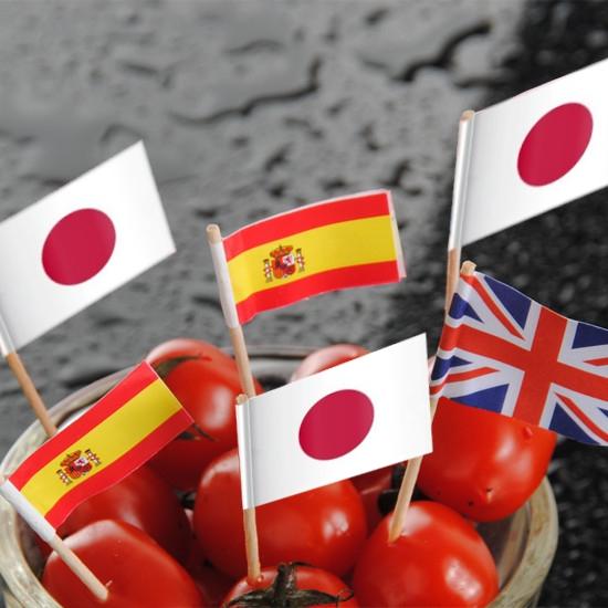 Espeto Bandeira do Japão c/ 50 unid.